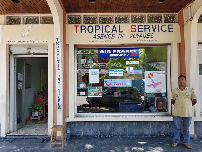 Bureau de l'Agence Tropica Service à Tamatave