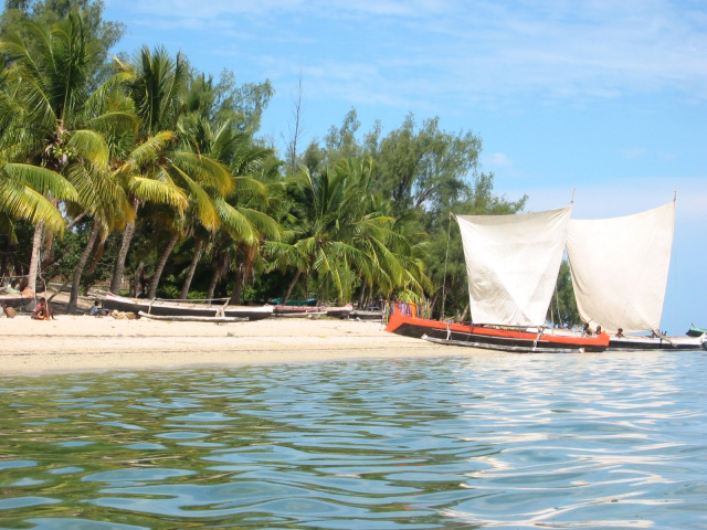 The main beach of Nosy Be
